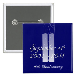 9 11 September 11th - 10th Anniversary Twin Towers Pin