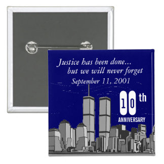 9-11 Tenth Anniversary 15 Cm Square Badge