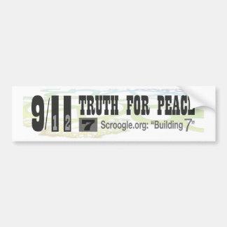 "9/11 Truth For Peace - Scroogle.org: ""Building 7"" Bumper Sticker"