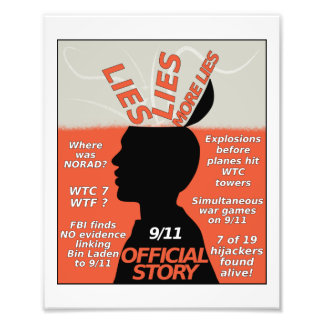 9-11 Truth Official Story Lies Art Photo