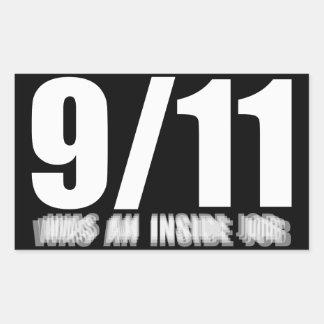 9/11 was an inside job rectangular sticker
