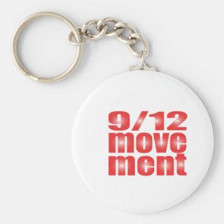 9/12 Movement Basic Round Button Key Ring