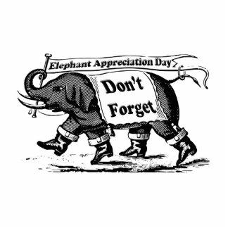 9-22 Elephant Appreciation Day Standing Photo Sculpture