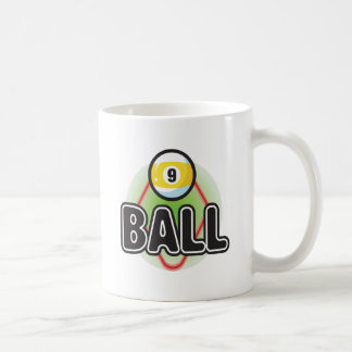 9 Ball 2 Basic White Mug