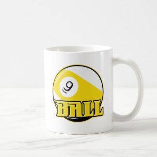 9 Ball Basic White Mug
