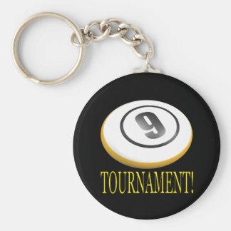 9 Ball Tournament Key Chain