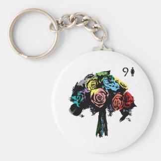 9 bouquet- lenormand keychain