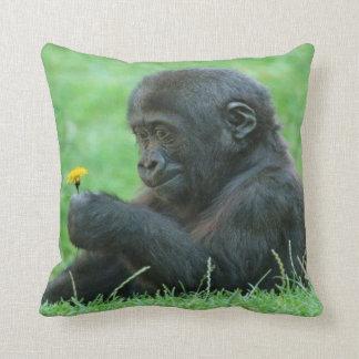 #9- Gorilla with dandelion Cushion
