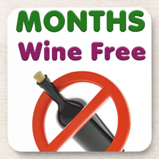 9 months wine free, pregnant mom, pregnancy gift coaster