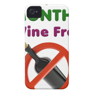 9 months wine free, pregnant mom, pregnancy gift iPhone 4 Case-Mate case