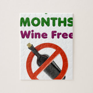 9 months wine free, pregnant mom, pregnancy gift jigsaw puzzle