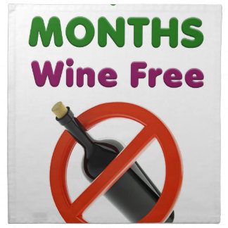 9 months wine free, pregnant mom, pregnancy gift napkin