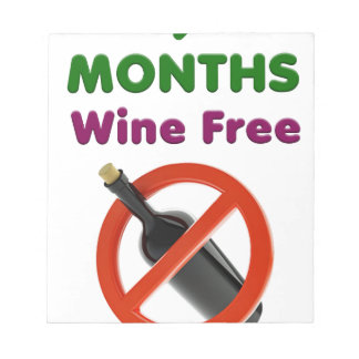 9 months wine free, pregnant mom, pregnancy gift notepad