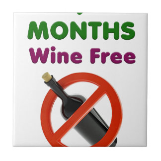 9 months wine free, pregnant mom, pregnancy gift tile