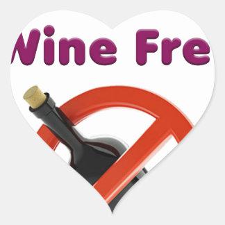 9 months wine free, pregnant woman, pregnancy baby heart sticker