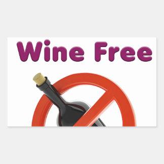 9 months wine free, pregnant woman, pregnancy baby rectangular sticker