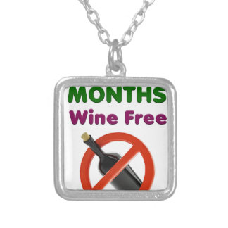 9 months wine free, pregnant woman, pregnancy baby silver plated necklace