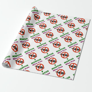 9 months wine free, pregnant woman, pregnancy baby wrapping paper