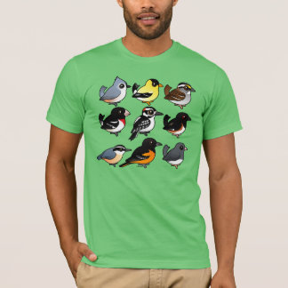 9 Northeast USA Backyard Birds T-Shirt