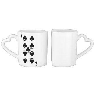 9 of Clubs Coffee Mug Set