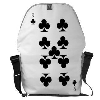 9 of Clubs Messenger Bag