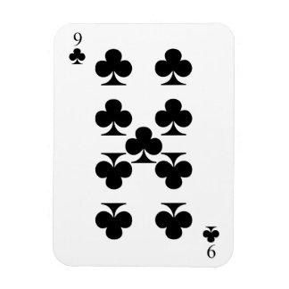 9 of Clubs Rectangular Photo Magnet