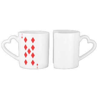 9 of Diamonds Coffee Mug Set