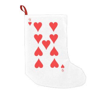 9 of Hearts Small Christmas Stocking