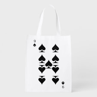 9 of Spades Reusable Grocery Bag