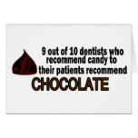 9 Out Of 10 Dentist Recommend Chocolate Cards
