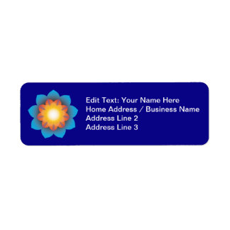 9-Point Lotus Flower Return Address Label