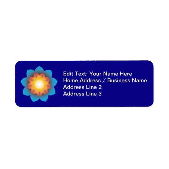 9-Point Lotus Flower Return Address Label