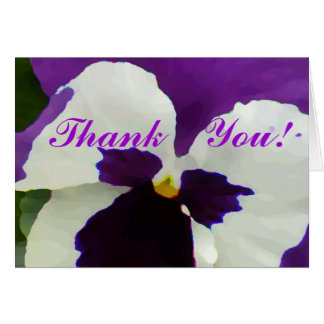9 Purple White Painted Pansy Note Card