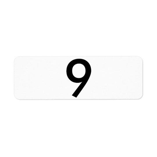9 RETURN ADDRESS LABEL