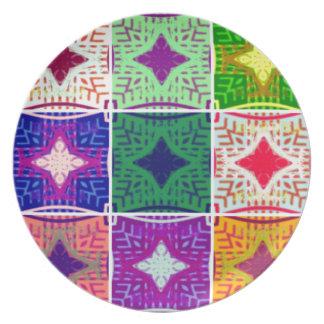 9 star Hakuna matata pattern Party Plates