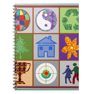 9 Symbols KIDS Story Engage Motivate Inspire GIFTS Spiral Note Book