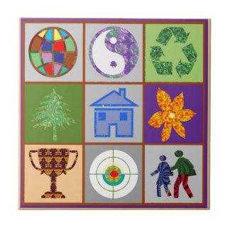 9 Symbols KIDS Story Engage Motivate Inspire GIFTS Ceramic Tiles