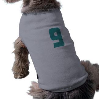 9 Teal Bold Dog Shirt