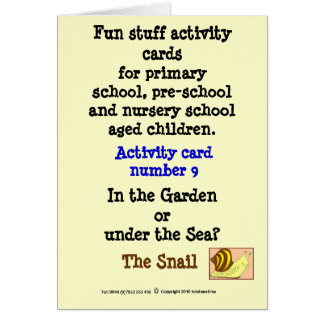 9 The Snail Card