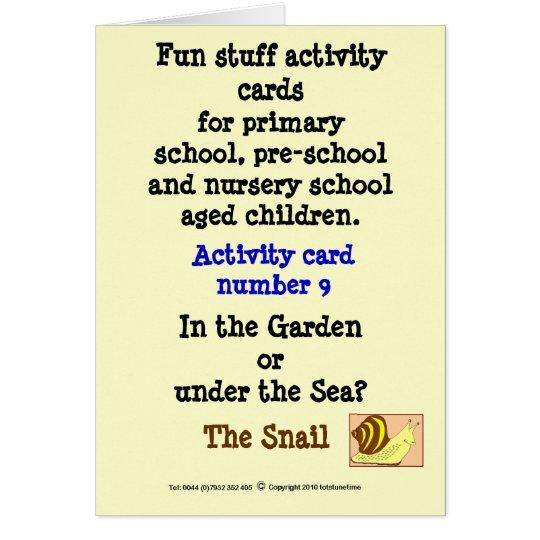 9 The Snail Card