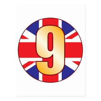 9 UK Gold Postcard