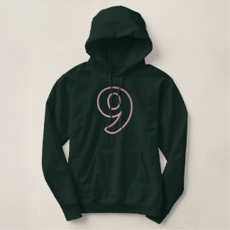 #9 without Banner Embroidered Pullover Hoodie