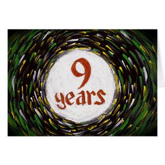9 Years Sobriety Birthday / Anniversary Card