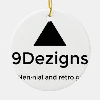9Dezigns Millennial and Retro Gear Ceramic Ornament