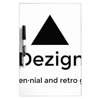 9Dezigns Millennial and Retro Gear Dry Erase Board