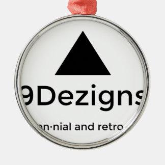 9Dezigns Millennial and Retro Gear Metal Ornament
