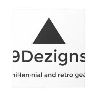 9Dezigns Millennial and Retro Gear Notepad