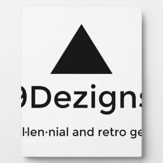 9Dezigns Millennial and Retro Gear Plaque