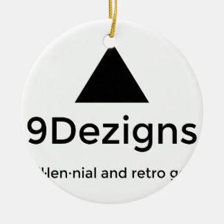 9Dezigns Millennial and Retro Gear Round Ceramic Decoration