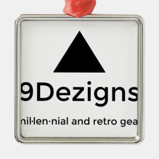 9Dezigns Millennial and Retro Gear Silver-Colored Square Decoration